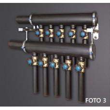 Настенный коллектор GEO RS  544RB  с ротаметрами