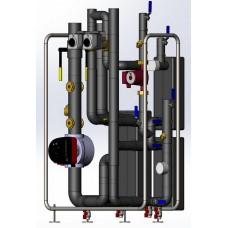 Тепловой узел для системы отопления/вентиляции и системы горячего водоснабжения с двухступенчатым нагревом раздельными подогревателями